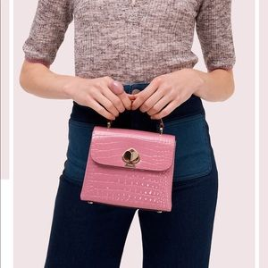 Brand New Kate Spade Croc Mini Handbag